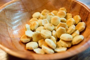 Oyster Crackers in a Bowl