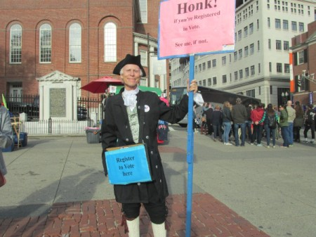 A patriot in Boston.