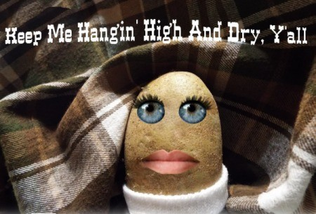 A potato with eyes and lips.