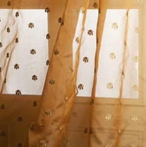curtains with bees