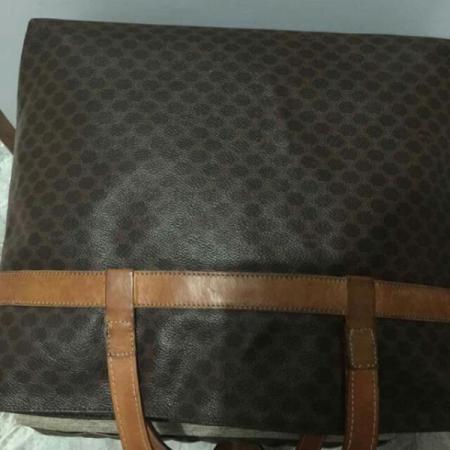 dark brown handbag