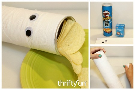 Making a Mummy Pringles Can