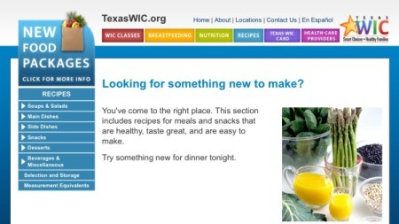 Look for SNAP or WIC Recipes