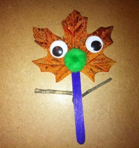 Leaf Puppets