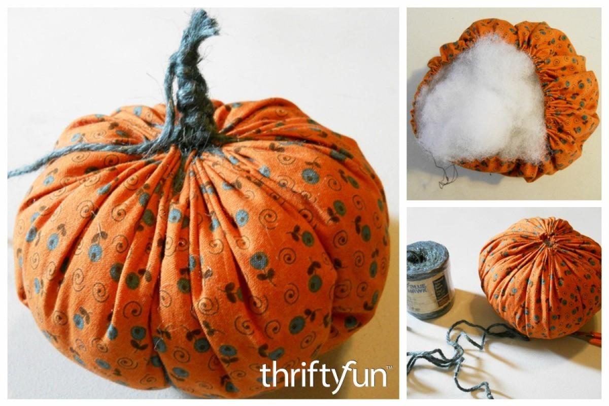 Making Fabric Pumpkins Thriftyfun