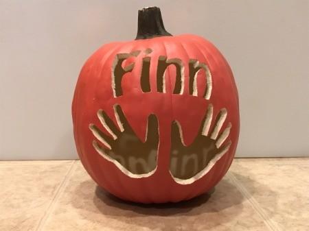 Keepsake Handprint Pumpkin