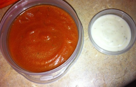 Crescent Pizza Rolls - dipping sauces