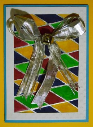 A handmade Bell-a-Ringing Christmas Card