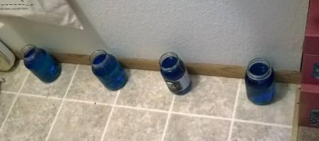 Homemade Shelves from Flooring Planks