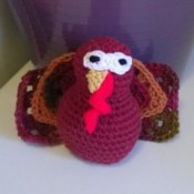 turkey with face and tail sewn on