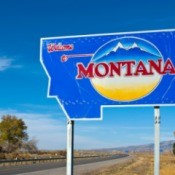 "A picture of the ""Welcome to Montana"" sign."