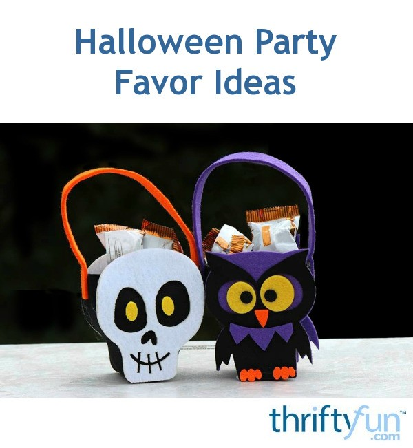 Halloween party favor ideas thriftyfun for Halloween party favor ideas