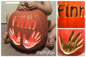 Making a Keepsake Handprint Pumpkin