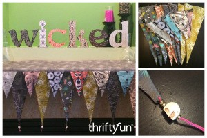 Making Halloween Mantel Pennants