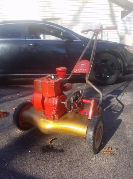 old power mower