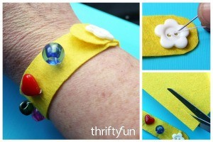 Making a Felt Wristband
