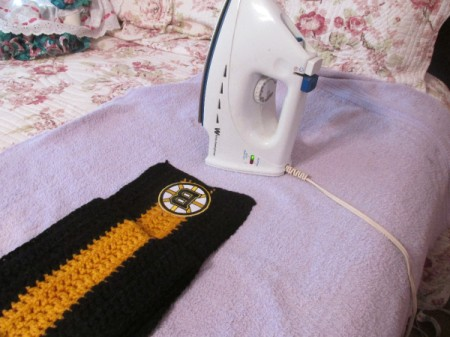 Crocheted Sports Team Scarves
