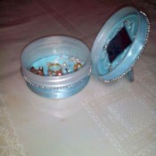 Recycled Plastic Container Jewelry Keeper