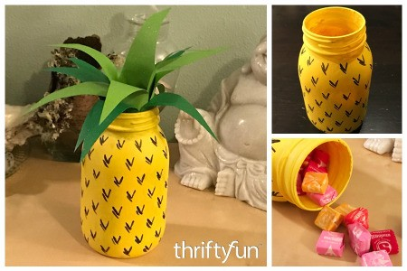 Making a Pineapple Gift Jar