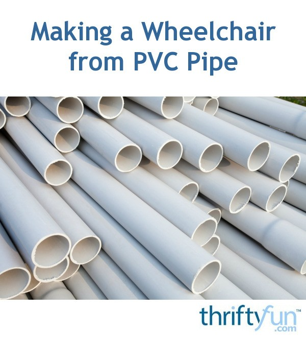 Making A Beach Wheelchair From Pvc Pipe Thriftyfun