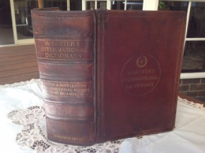 Value of a 1904 Webster's international Dictionary