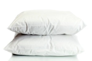 Two white pillows.