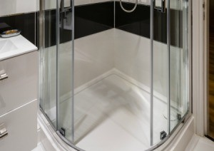 Photo of a shower enclosure.