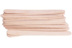 A stack of popsicle sticks.