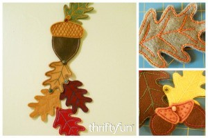 Autumn Felt Wall or Door Hanging