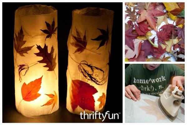 making autumn leaf lanterns thriftyfun