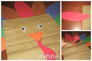 Making a Paper Bag Turkey