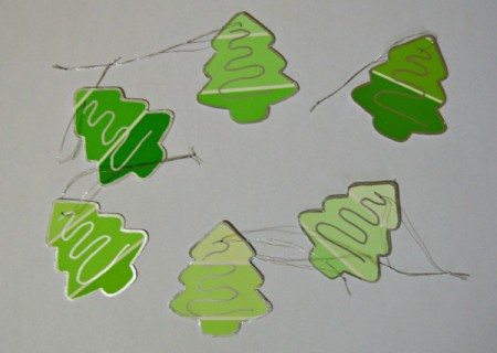 Christmas Tree Gift Tags From Paint Swatches