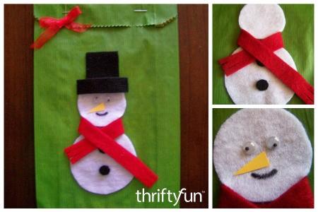 Making a Snowman Gift Bag