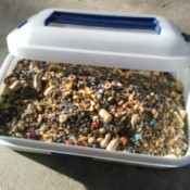 plastic container for bird seed