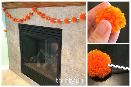 Making a Halloween Pom Pom Garland