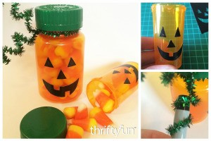 Making Pill Bottle Pumpkins