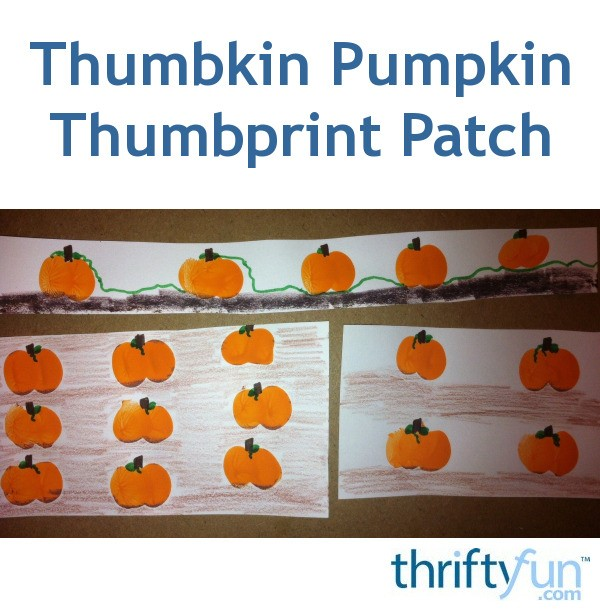 Making A Thumbprint Pumpkin Patch Thriftyfun