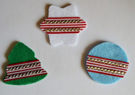 Felt Bling Christmas Ornaments