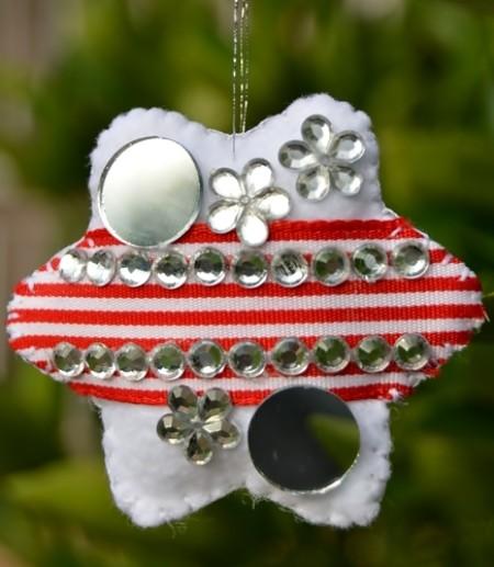 Felt Bling Christmas Ornaments