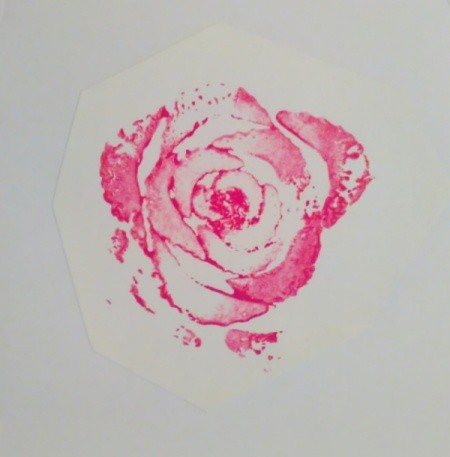 Celery Rose Shaped Stencil Stamp