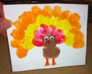 forward facing thumbprint turkey