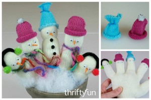 Making Glove Snowmen
