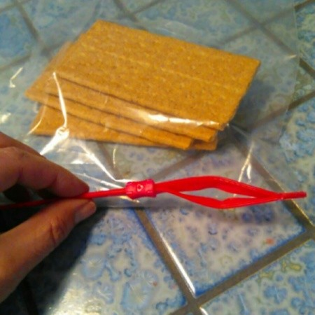 Graham crackers in a plastic bag.