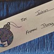 mini ornament gift tag