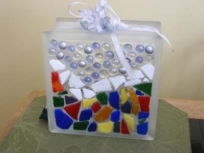 glass block christmas decoration - Glass Block Christmas Decorations