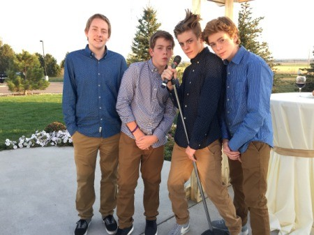 photo of 4 teen boys