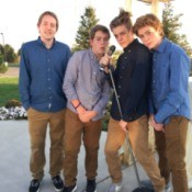 photo of 4 teen boys