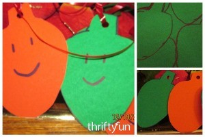 Making Paper Christmas Lightbulb Ornaments