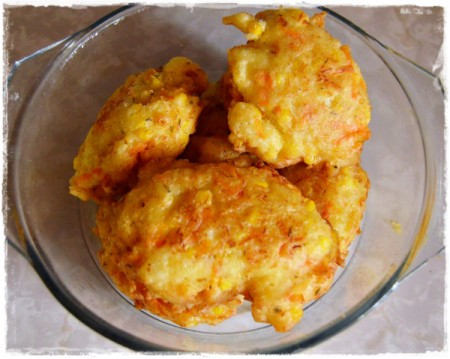 Left-Over Hake and Corn Cakes