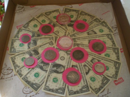 Pizza Box Cash Gift